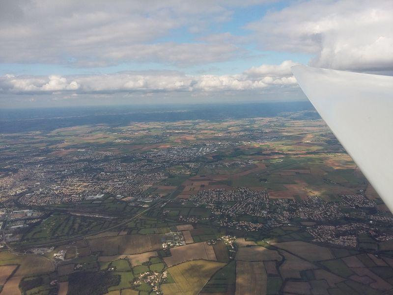 Vol en planeur sur les Deux-Sèvres