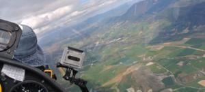 Le planeur Club de Niort lors d'un vol sur l'Espagne